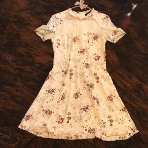 Kooples Silk Knee-Length Floral Dress